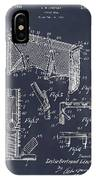 1947 Hockey Goal Patent Print Blackboard IPhone Case