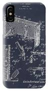 1947 Hockey Goal Patent Print Blackboard IPhone Case