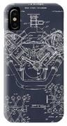 1954 Chrysler 426 Hemi V8 Engine Blackboard Patent Print IPhone Case