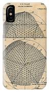 1954 Geodesic Dome Antique Paper Patent Print IPhone Case
