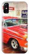 1955 Chevy Blower In The Gorage IPhone Case