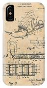 1960 Bombardier Snowmobile Antique Paper Patent Print IPhone Case