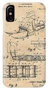 1960 Bombardier Snowmobile Antique Paper Patent Print IPhone Case