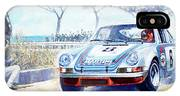1973 Targa Floria Porsche 911 Carrera Rsr Martini Racing Lennep Muller Winner  IPhone X Case