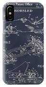 1982 Bobsled Blackboard Patent Print IPhone Case