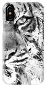 Black And White Half Faced Tiger IPhone Case