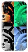 Lady Liberty In Quad Colors IPhone Case