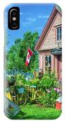 Scenic Garden And Antiques Store IPhone Case