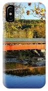 Taftsville Covered Bridge IPhone Case by Jeff Folger
