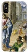 The Miracle Of Christ Healing The Blind  IPhone Case