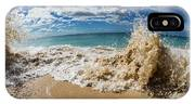 View Of Surf On The Beach, Hawaii, Usa IPhone X Case