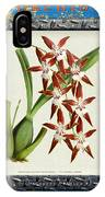 Orchid Framed On Weathered Plank And Rusty Metal IPhone Case