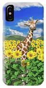 A Friendly Giraffe Hello IPhone Case