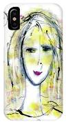 A Girl By The Artist Catalina Lira IPhone Case