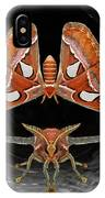 A Is For Atlas Moth IPhone X Case