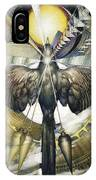 A Painting Alludes To Powers That Might Enable Birds To Migrate. IPhone Case