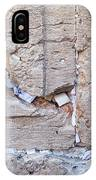 A Piece Of The Wailing Wall IPhone Case