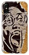 A Terrified Face On A Barcelona Wall  IPhone Case