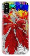 Abstract Fall Acer Stained Glass  IPhone Case