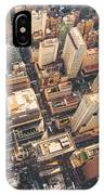 Aerial View Of Midtown Manhattan At IPhone X Case
