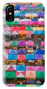 Aerial View Of Multiple Color Roof To IPhone X Case