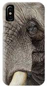 African Elephant IPhone Case by Alan M Hunt