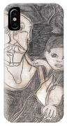 After Billy Childish Pencil Drawing 19 IPhone Case