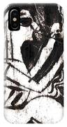 After Mikhail Larionov Black Oil Painting 1 IPhone Case