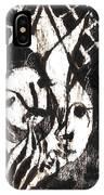After Mikhail Larionov Black Oil Painting 14 IPhone Case