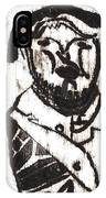 After Mikhail Larionov Black Oil Painting 2 IPhone Case