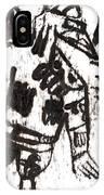 After Mikhail Larionov Black Oil Painting 3 IPhone Case