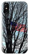 American Flag Branching Out At Fort Mchenry IPhone Case by Bill Swartwout Photography