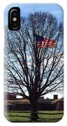 American Flag Tree At Fort Mchenry IPhone Case by Bill Swartwout Photography