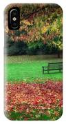 An Autumn Bench At Clyne Gardens IPhone Case