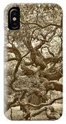 Angel Oak Drama In Vintage Sepia IPhone Case