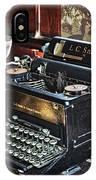 Antique Typewriter 2 IPhone Case