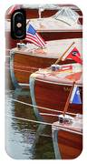 Antique Wooden Boats In A Row Portrait 1301 IPhone Case by Rick Veldman