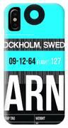 Arn Stockholm Luggage Tag II IPhone Case