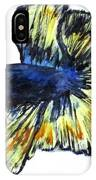 Art Doodle No.34 Betta Fish IPhone Case by Clyde J Kell