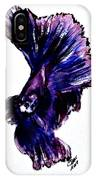 Art Doodle No.35 Betta Fish IPhone Case by Clyde J Kell