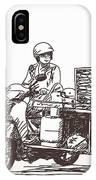 Asian Street Food On Motorbike, Hand IPhone X Case