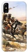Attack On The Wagon Train IPhone Case