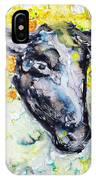 Autumn Crown Sheep IPhone Case by Monique Faella