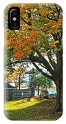 Autumn Day In The Salem Willows Salem Ma Red IPhone Case