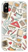 Back To School Seamless Pattern With IPhone X Case