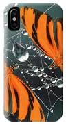 Banded Orange Butterfly. IPhone Case