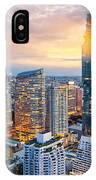 Bangkok City At Sunset, Mahanakorn IPhone X Case