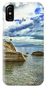 Bansai Rock, Lake Tahoe, Nevada, Panorama IPhone Case