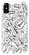 Banter Bubbles From A Comic Creation IPhone Case