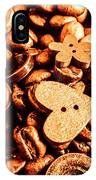 Beans And Buttons IPhone Case